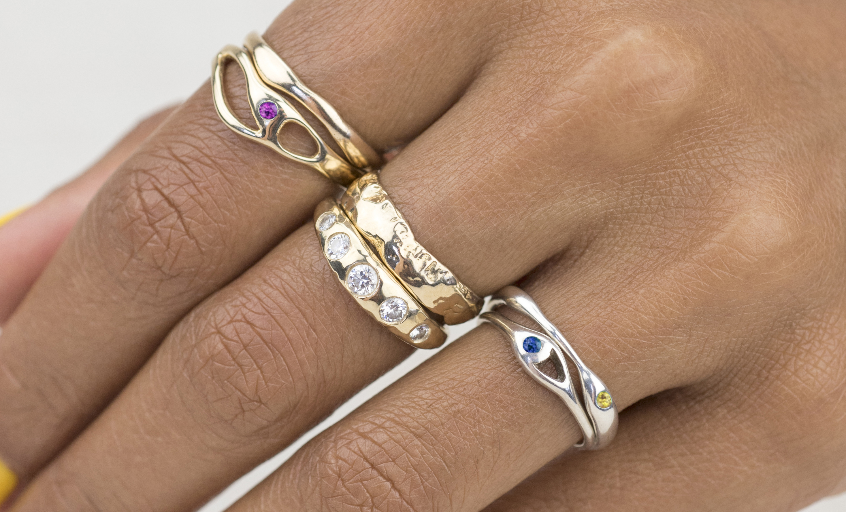 Bario Neal's Vibrant Collection Stackable Rings