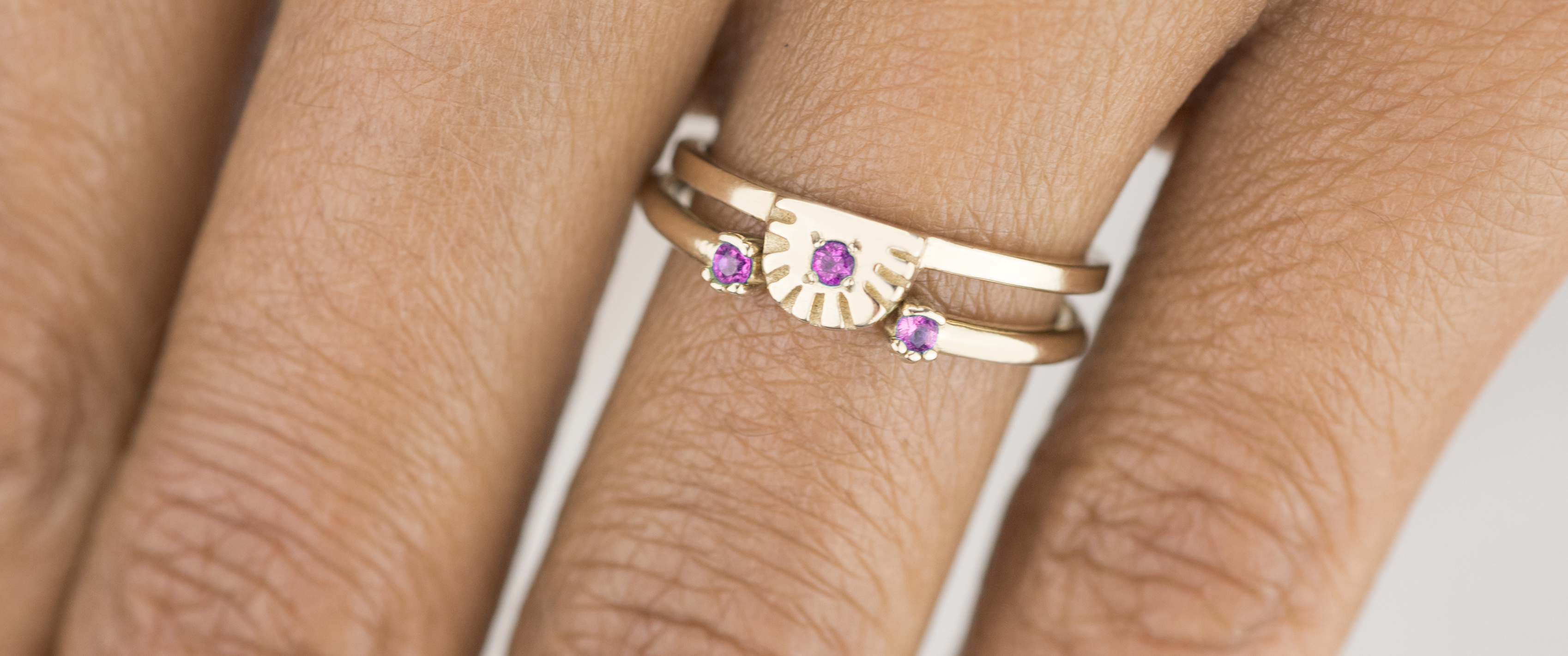Fuschia Stackable Rings from Bario Neal's Vibrant Collection