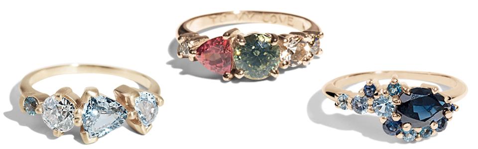 collage of Bario Neal Custom Designed rings