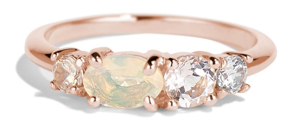 Linear Opal Ring