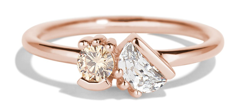 Lash Cluster Dyad Champagne Diamond Ring