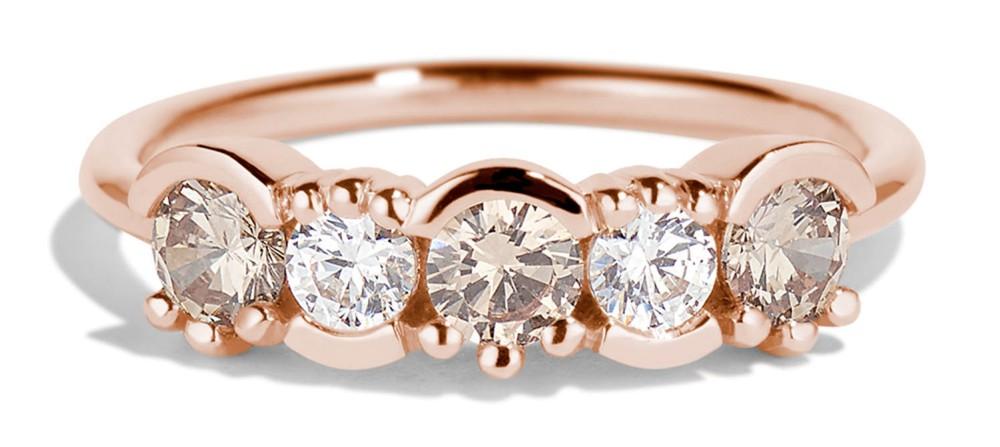 Lash Linear Diamond Ombré Ring
