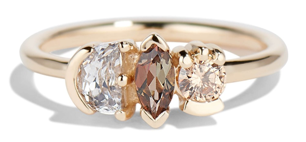 Lash Cluster Triad Andalusite Marquise Ring