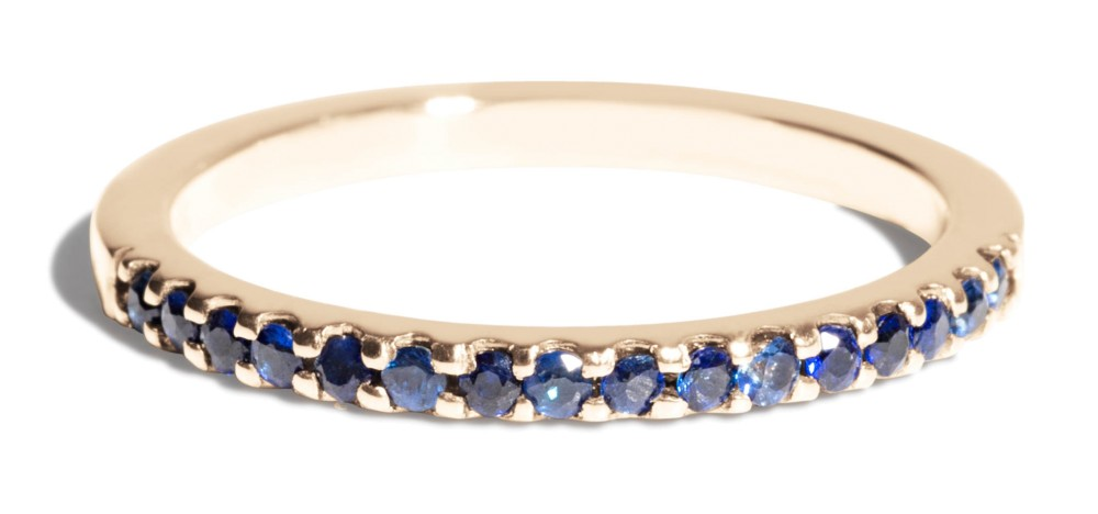 Eternity Half Blue Sapphire Band