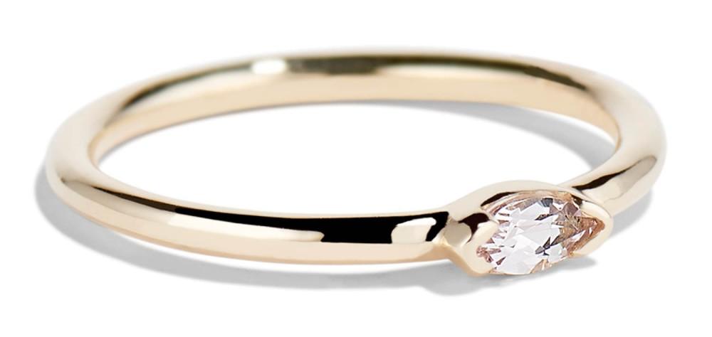 Nikko Mini Morganite Marquise Ring