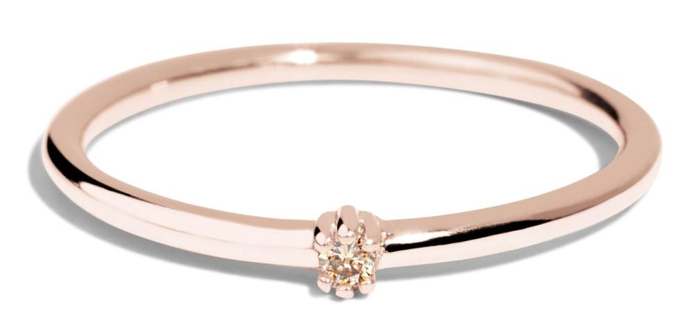 Lash Mini Champagne Diamond Ring