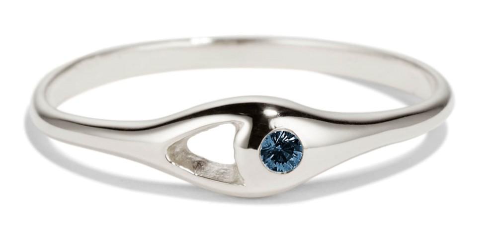 Aira Mini Blue Sapphire Ring