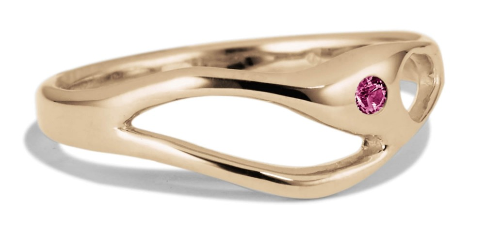 Bend Fuchsia Sapphire Ring