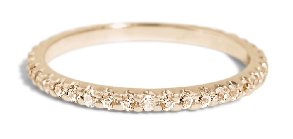 Eternity Champagne Diamond Band