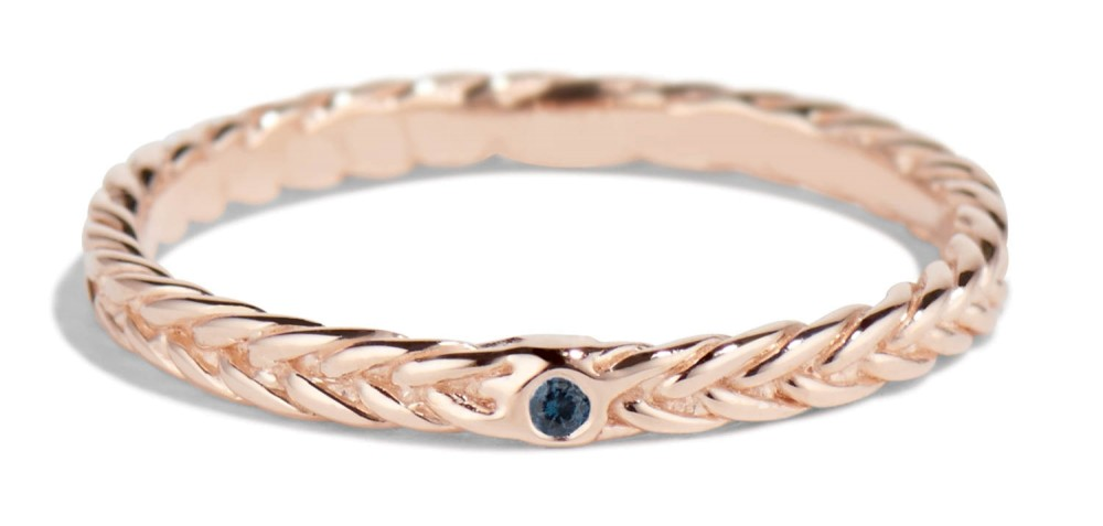 Fishtail Blue Sapphire Band