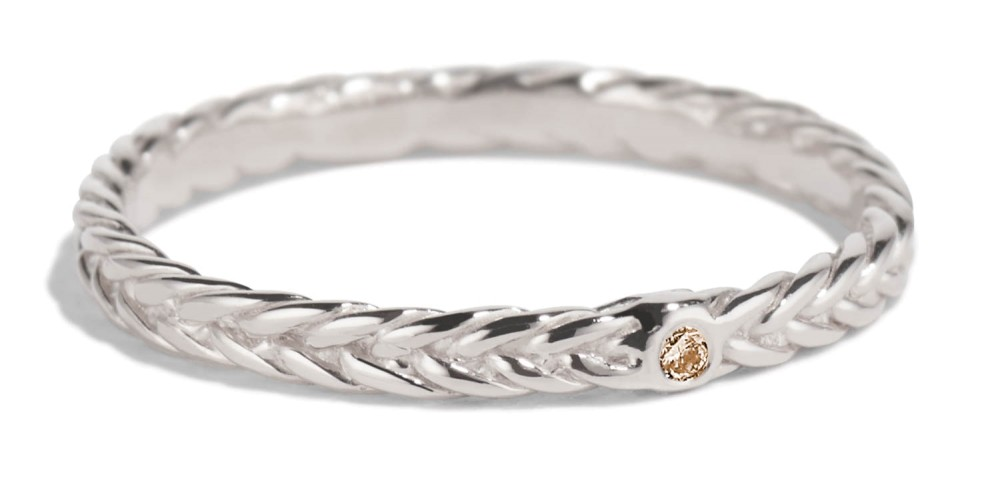 Fishtail Champagne Diamond Band
