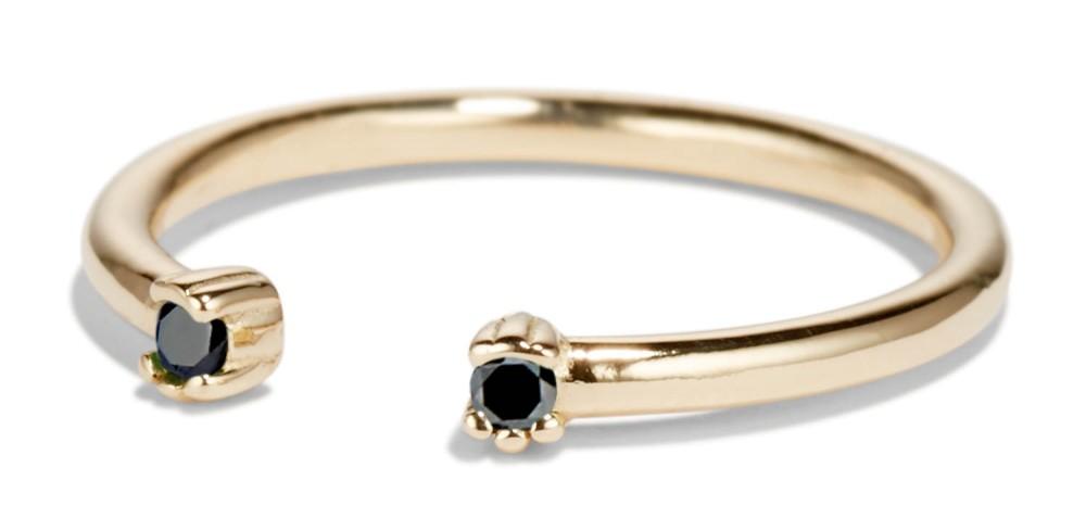 Open Lash Mini Black Diamond Ring