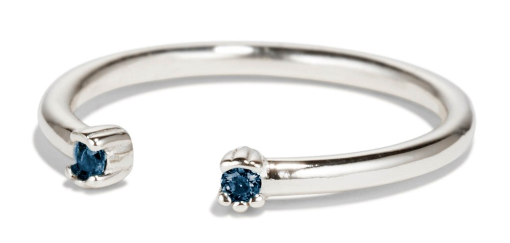 Open Lash Mini Blue Sapphire Ring