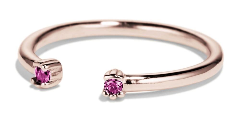 Open Lash Mini Fuchsia Sapphire Ring