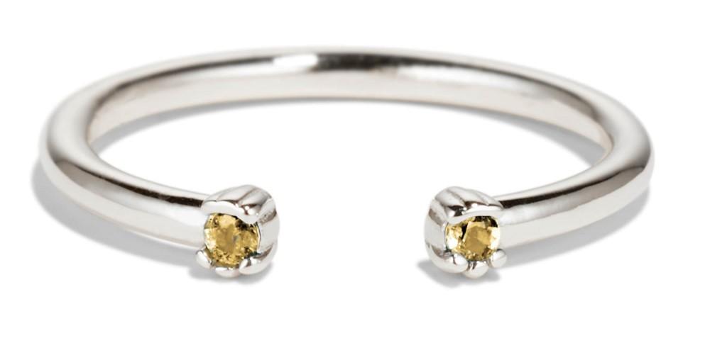 Open Lash Mini Yellow Sapphire Ring