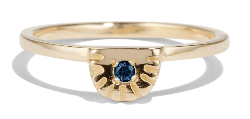 Ray Fringe Blue Sapphire Ring