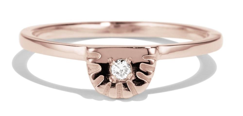 Ray Fringe Diamond Ring