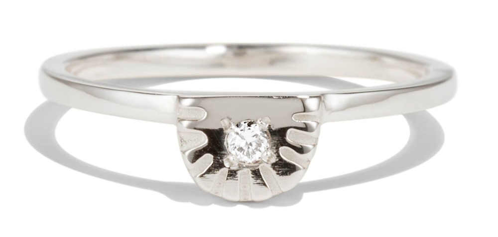 Ray Fringe Diamond Ring