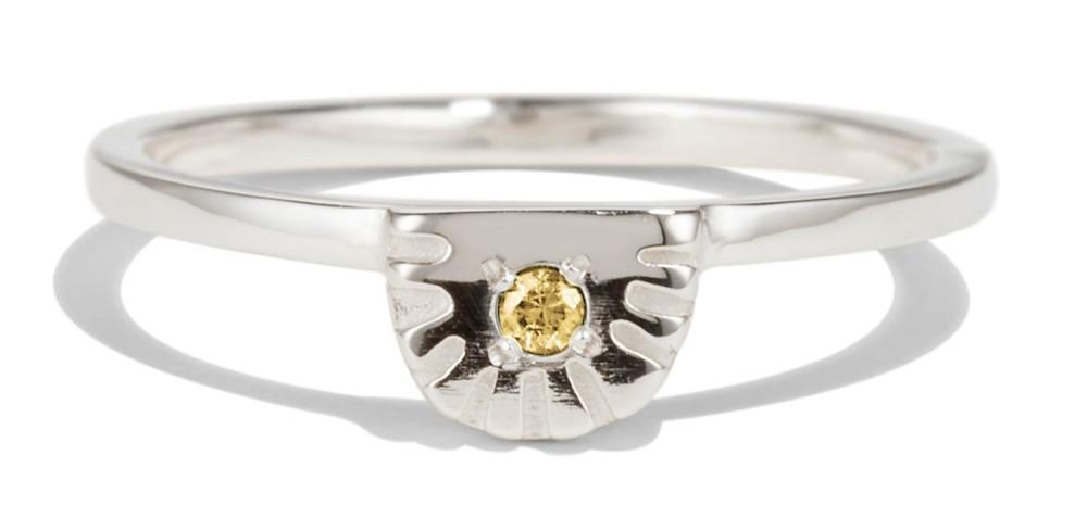 Ray Fringe Yellow Sapphire Ring
