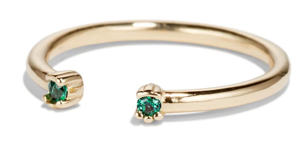 Open Lash Mini Emerald Ring