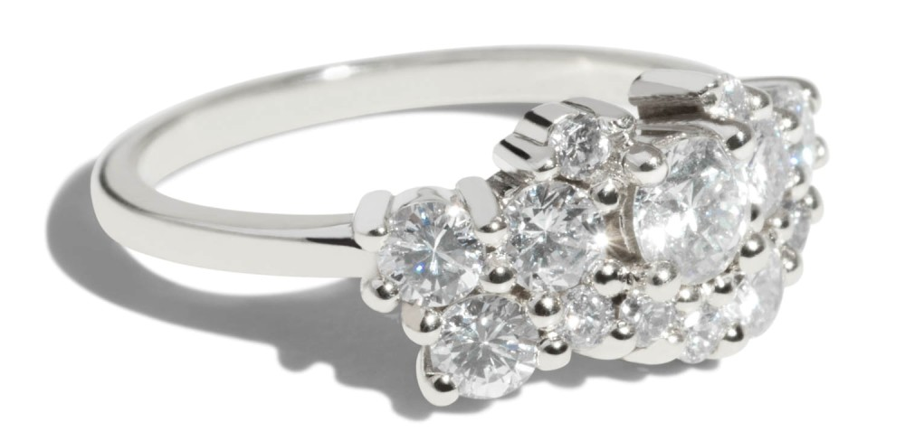 Custom Heirloom Diamond & Melee Cluster Ring