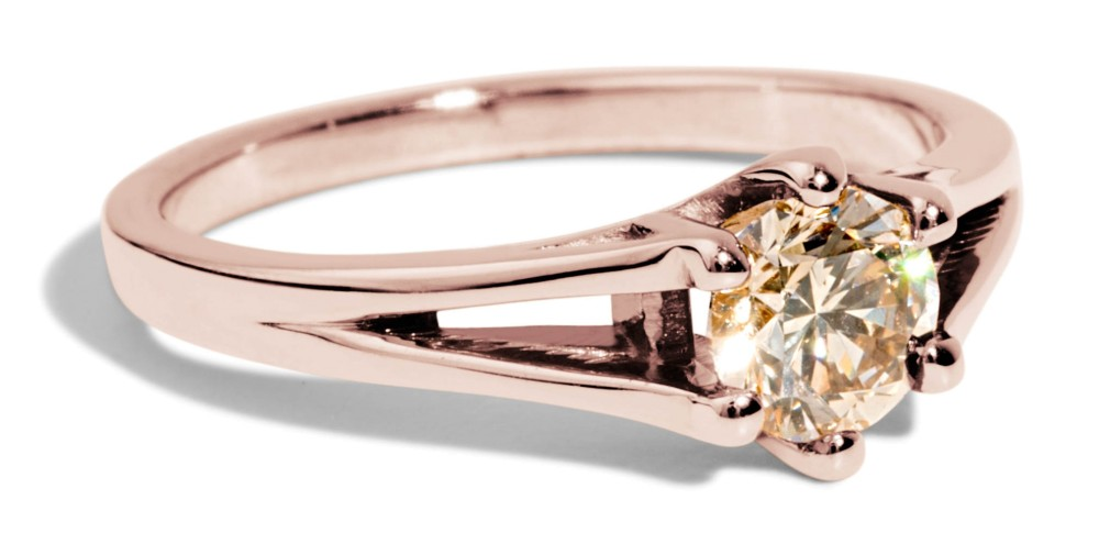 Myrtle Champagne Diamond Ring