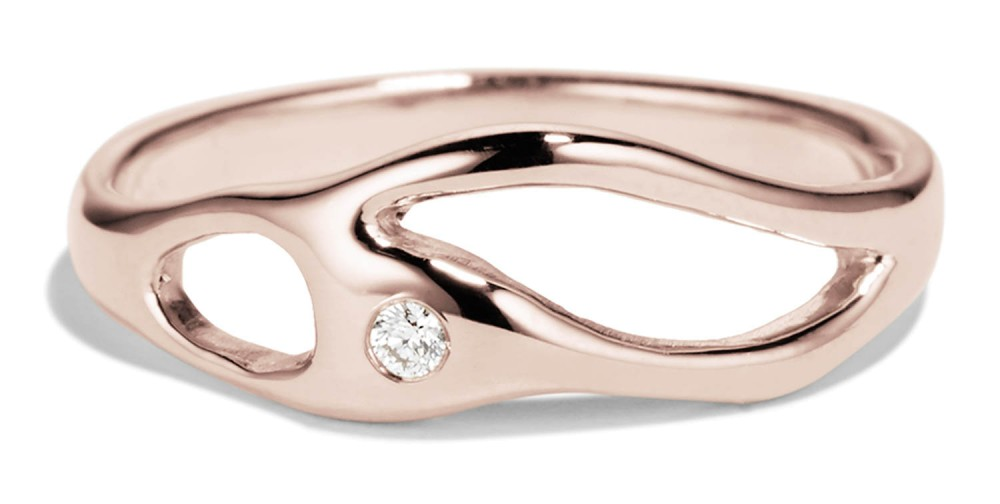 Bend Diamond Ring