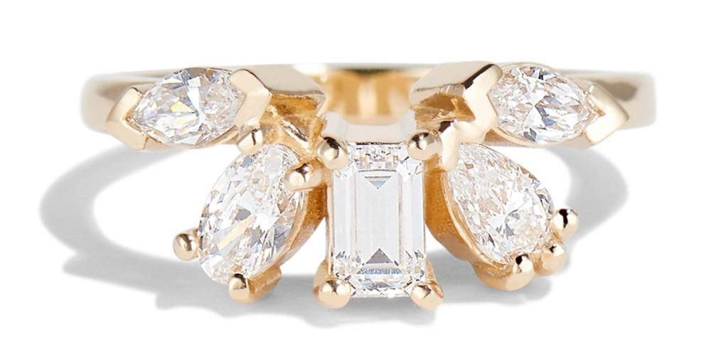 Fringe Cluster Diamond Ring