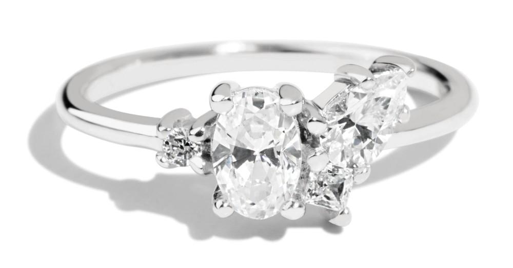 Eaves Cluster Diamond Ring
