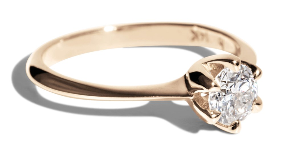 Custom Heirloom 4.7mm Round Diamond Ring