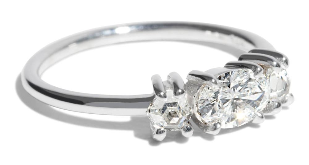 Custom Icon 5mm Oval Cut Diamond Ring