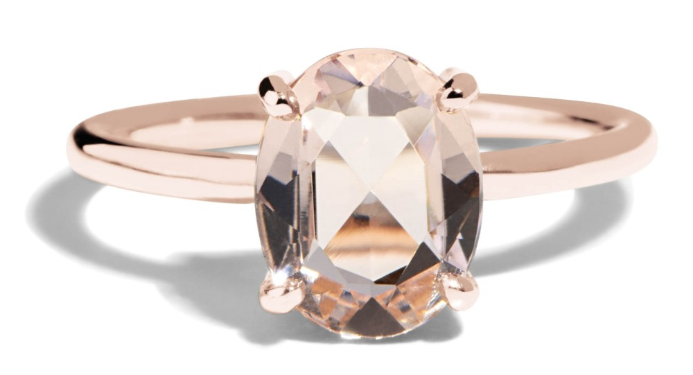 Kalmia Rose Cut Morganite Ring