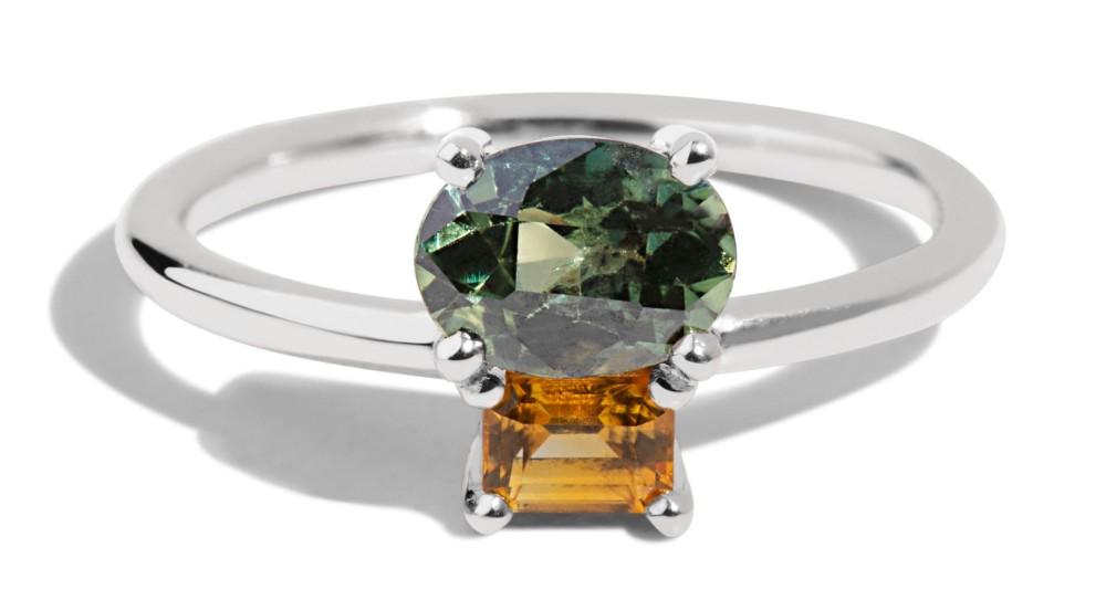 Orla Cluster Sapphire Ring