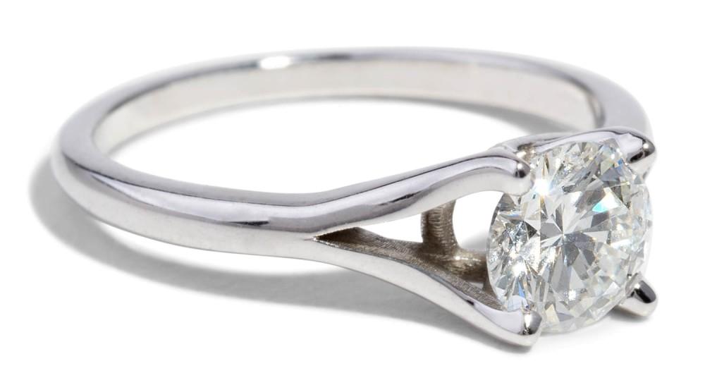 Custom Myrtle .81ct Diamond Ring
