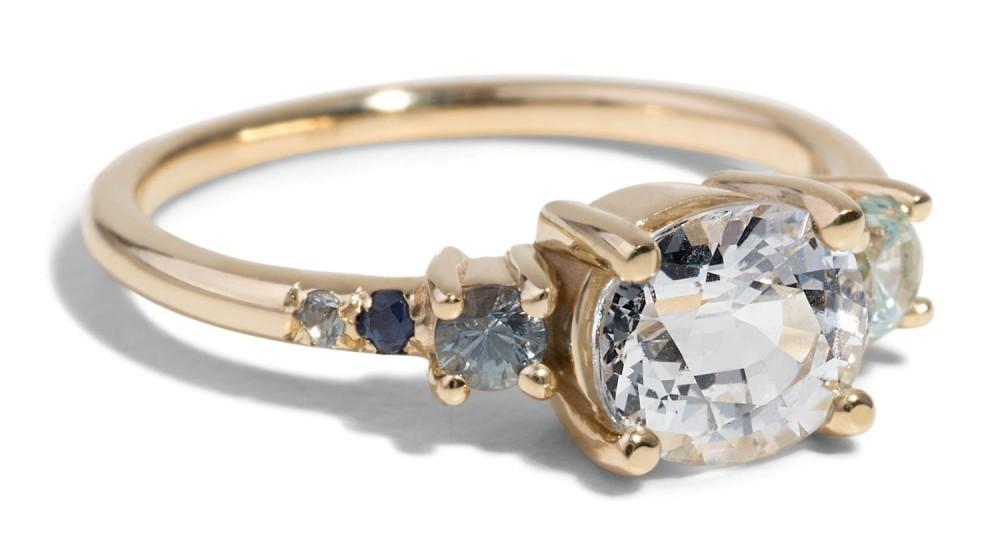 Custom Heirloom Sapphire and Zircon Ring