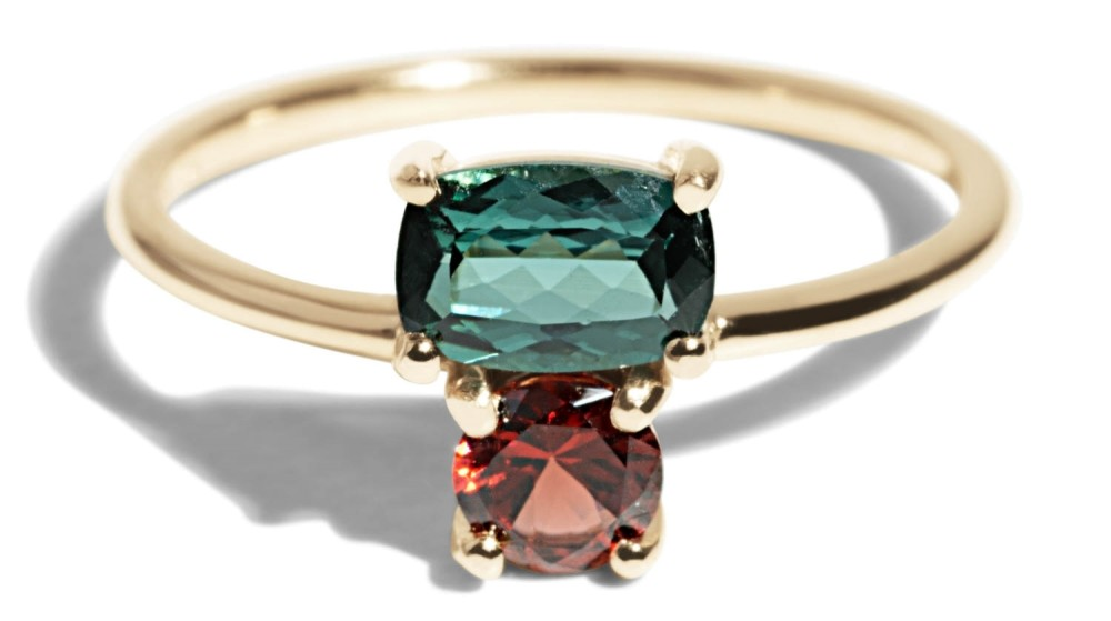 Custom Orla Cluster Tourmaline Ring