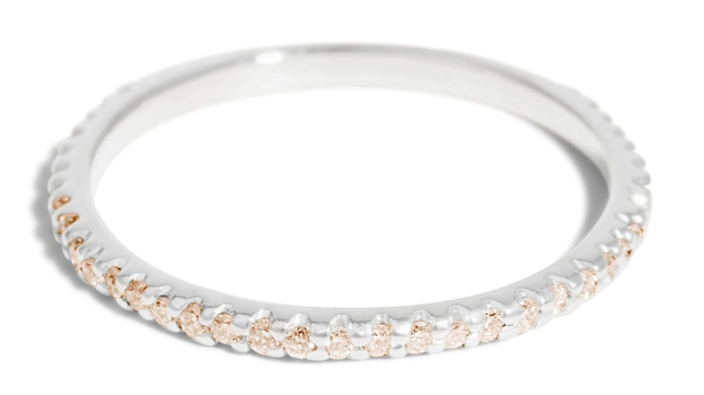 Eternity Champagne Diamond Narrow Band