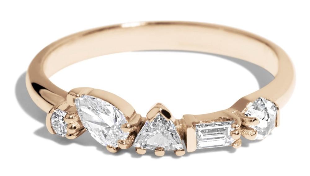 Custom 3.5mm Trillion Diamond Cluster Band