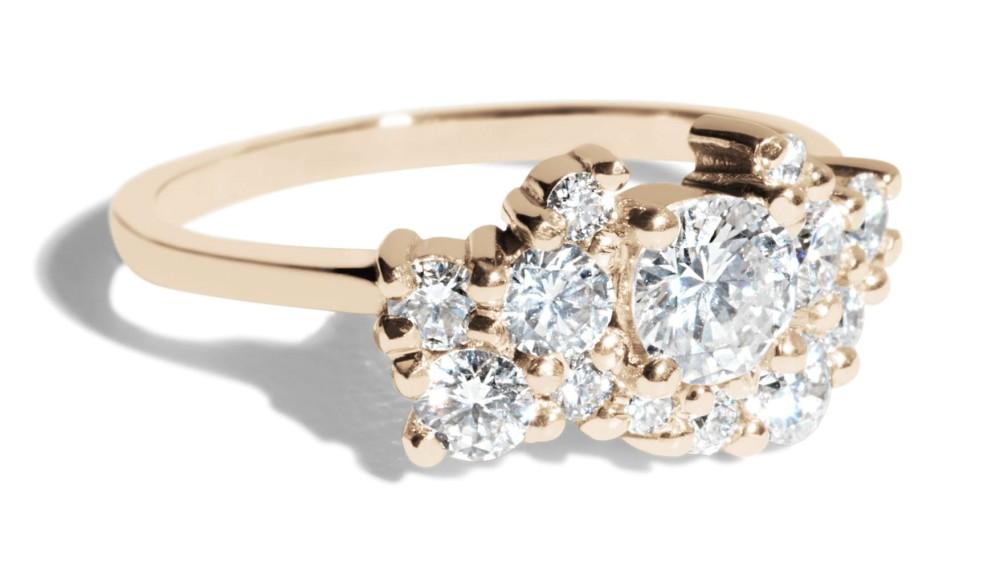 Custom .39ct Diamond Cluster Ring