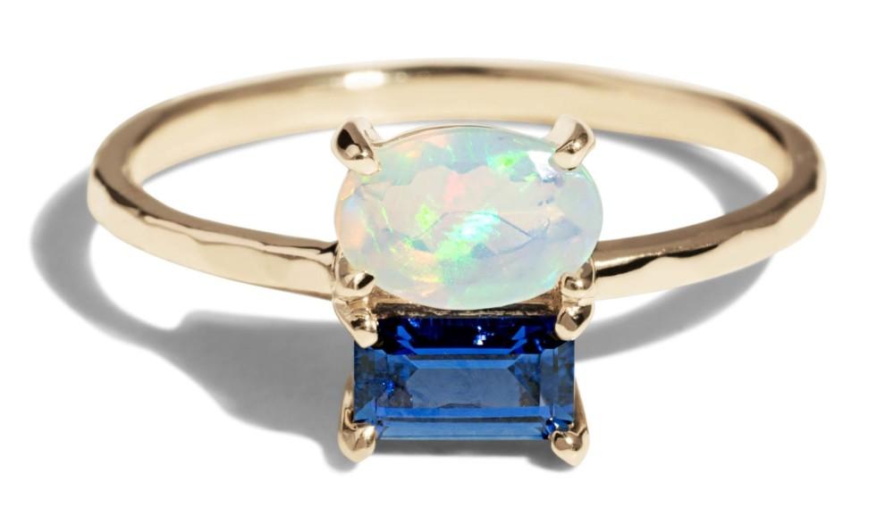 Custom Orla Cluster 6x4mm Opal Ring