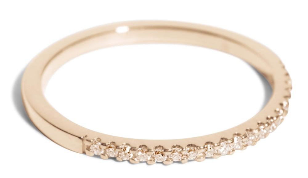 Eternity Half Champagne Diamond Narrow Band