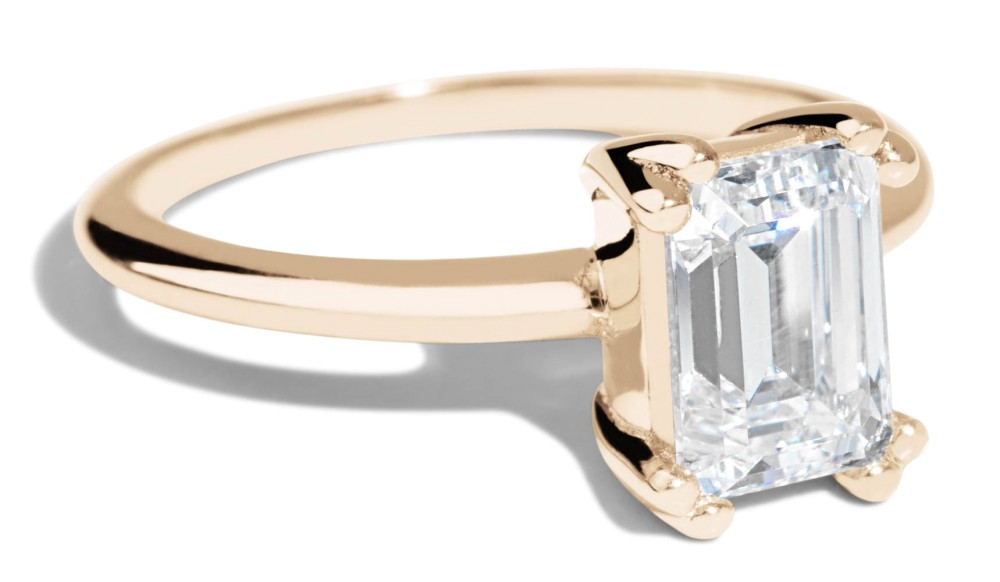 Ray Diamond Emerald Cut Ring