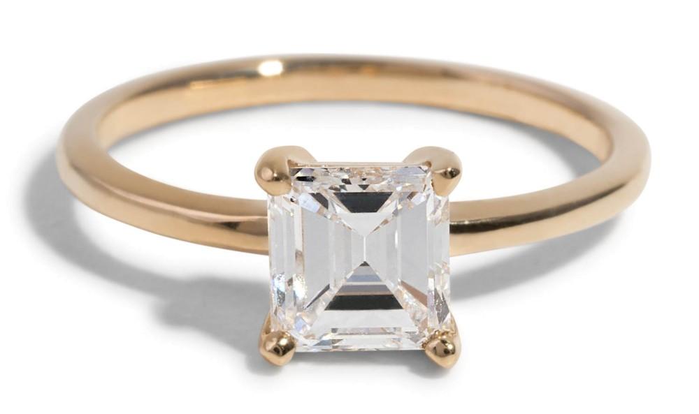 Custom Heirloom Asscher Cut Solitaire Engagement Ring