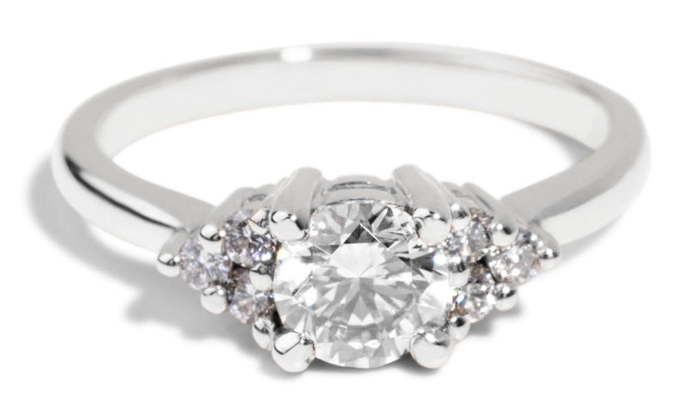 Avens Symmetrical Diamond Ring