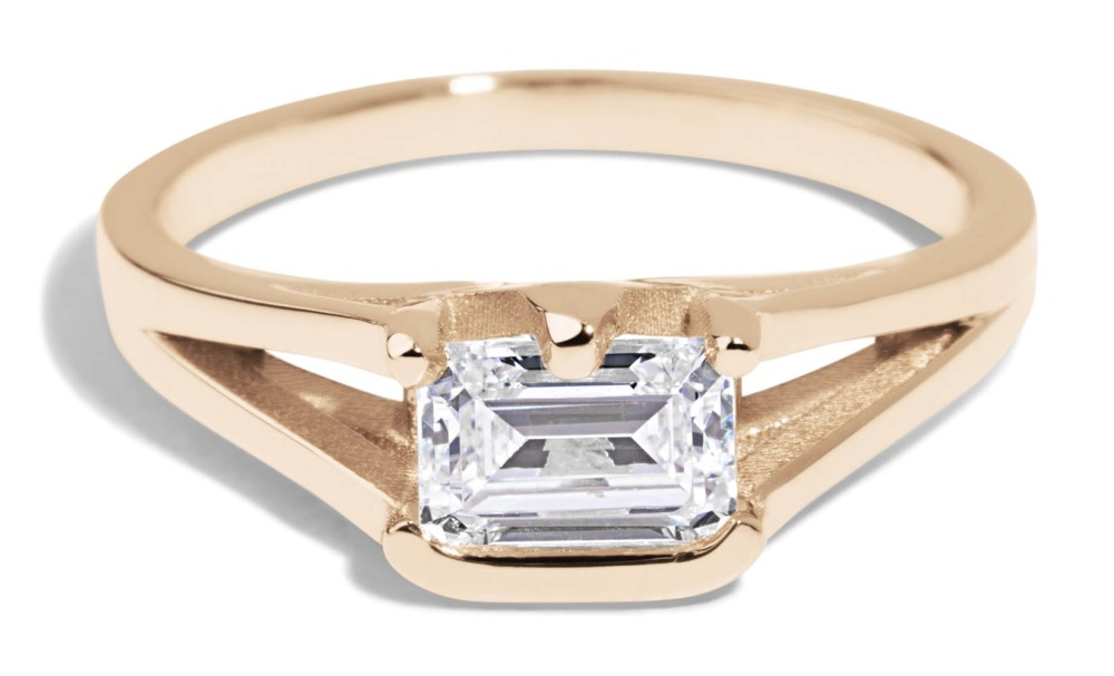 Myrtle Diamond Emerald Cut Ring