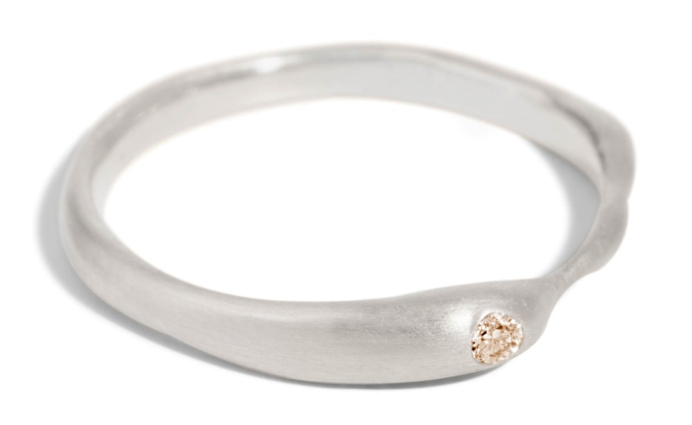 Reticulated One Champagne Diamond Band