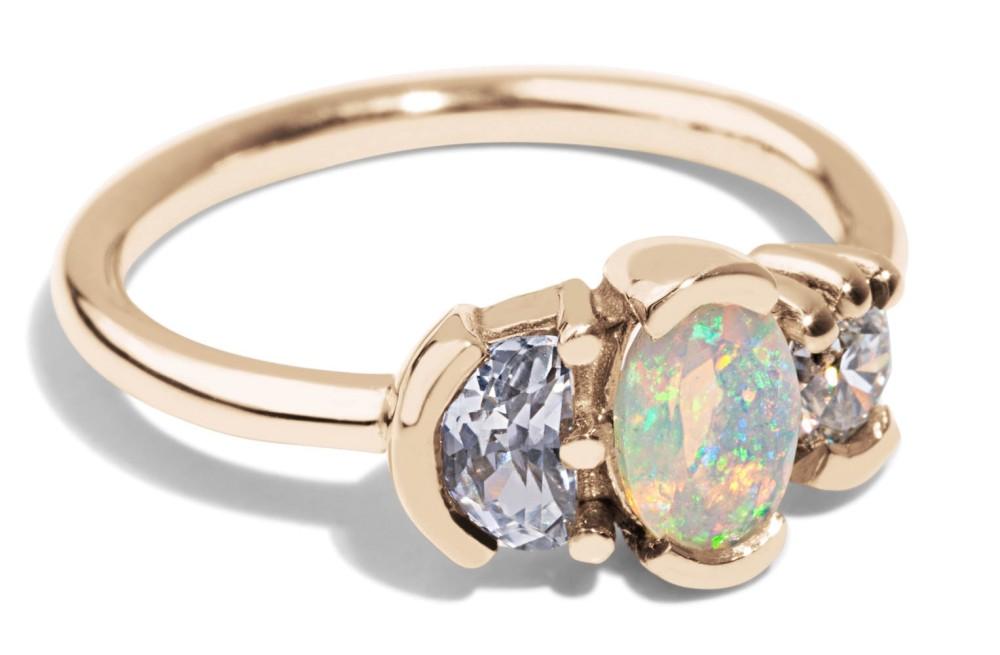 Lash Cluster Triad Opal Ring