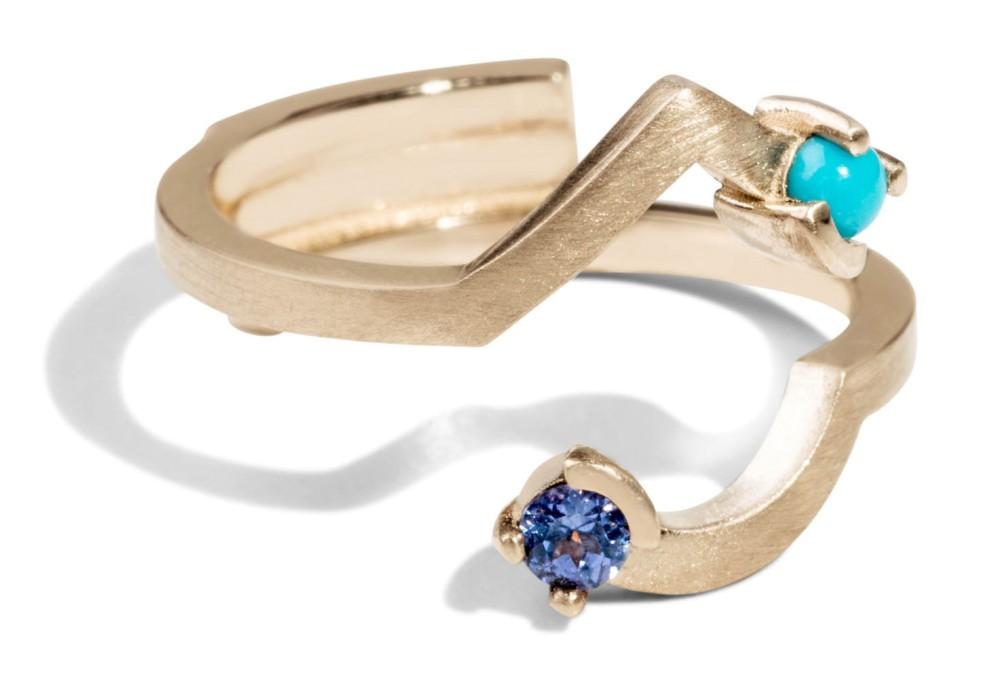 Custom Allium Diamond Ring
