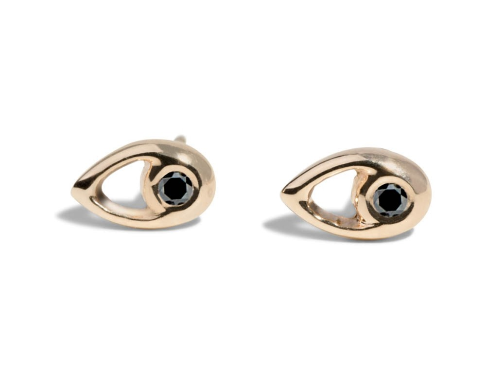 Aira Black Diamond Studs