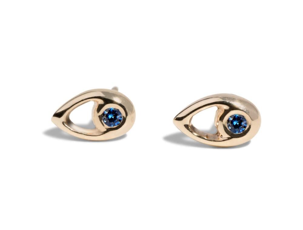 Aira Blue Sapphire Studs